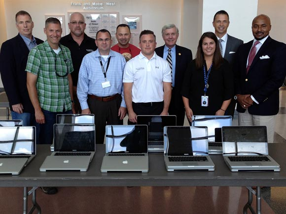 Facebook's Forest City Data Center has donated 18 computers to the Basic Law Enforcement Training program