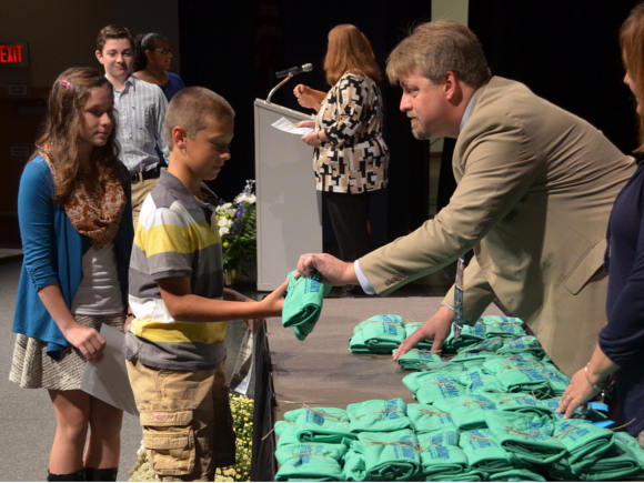 72 seventh graders were inducted into a new class of New Century Scholars (NCS) Tuesday evening.