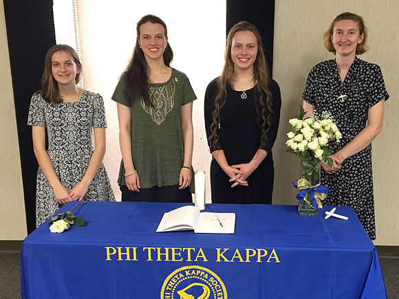 PTK honor society inducts new members