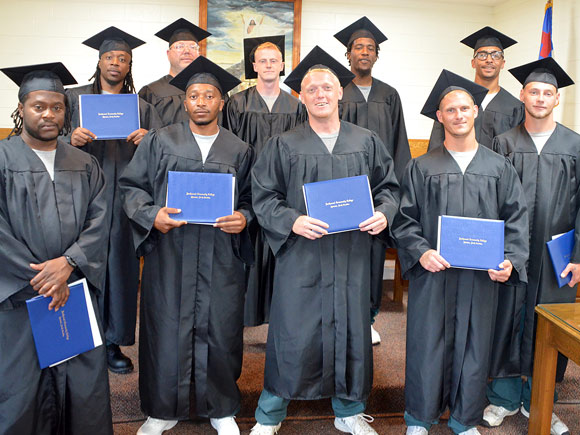 Inmates earn their High School Equivalency at Rutherford Correctional Center