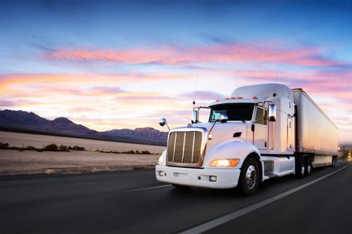 Truck on roadway